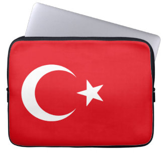 Red and White Flag of Turkey Computer Sleeve