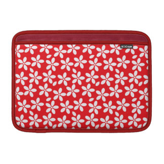 Red and White Floral Case MacBook Air Sleeves