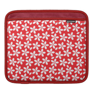Red and White Floral iPad Case