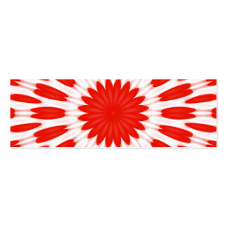 Red and White Floral Pattern Business Card Template