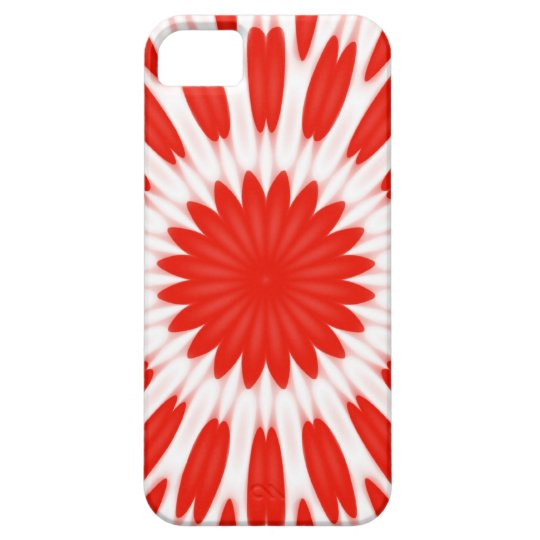 Red and White Floral Pattern iPhone SE/5/5s Case
