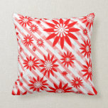 Red and White  floret  Pillow Design