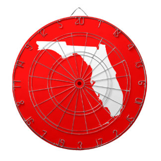 Red and White Florida Dart Board