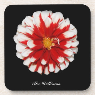 Red and White Flower Coasters