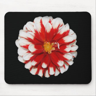 Red and White Flower Mousepad