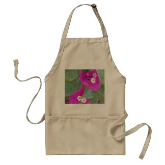 RED AND WHITE FLOWERS ADULT APRON