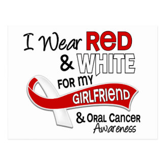 Red And White For My Girlfriend 42 Oral Cancer Postcard
