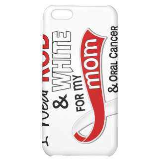 Red and White For My Mom 42 Oral Cancer iPhone 5C Cases