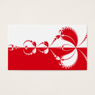 Red and white fractal business card
