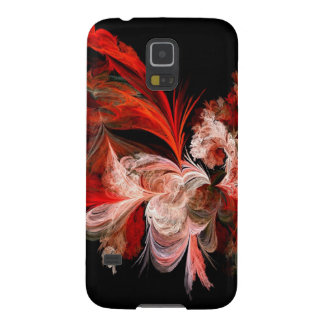 Red and White Fractal Galaxy S5 Case