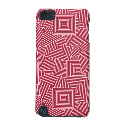 Red and White Geometric Square Pattern iPod Touch 5G Case