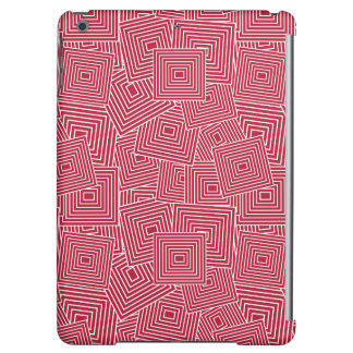 Red and White Geometric Square Pattern iPad Air Cases