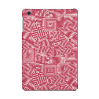 Red and White Geometric Square Pattern iPad Mini Case