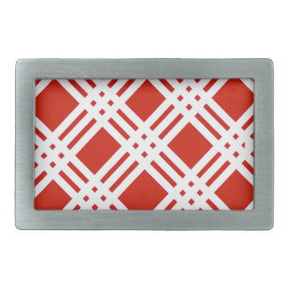 Red and White Gingham Belt Buckle