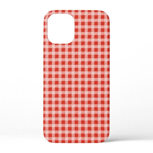 red and white gingham iPhone 12 mini case