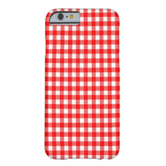 Red and White Gingham Check Design Barely There iPhone 6 Case