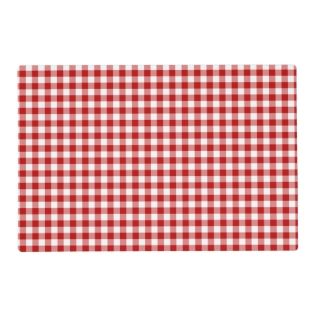 Red And White Gingham Checked Pattern Placemat at Zazzle