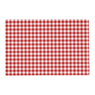 Red and White Gingham Checked Pattern Placemat