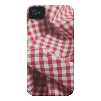 Red and White Gingham Checkered Cloth iPhone 4 Case-Mate Cases
