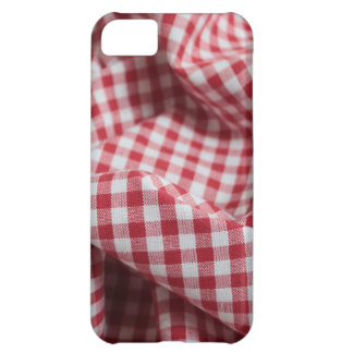 Red and White Gingham Checkered Cloth iPhone 5C Cover