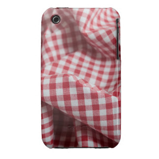 Red and White Gingham Checkered Cloth iPhone 3 Covers