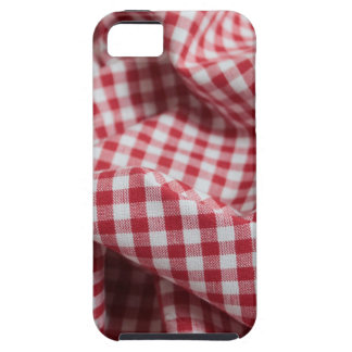 Red and White Gingham Checkered Cloth iPhone 5 Cover