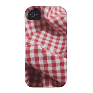 Red and White Gingham Checkered Cloth Vibe iPhone 4 Covers