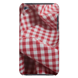 Red and White Gingham Checkered Cloth Barely There iPod Cover