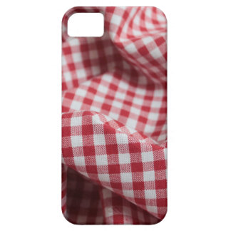 Red and White Gingham Checkered Cloth iPhone 5 Cases