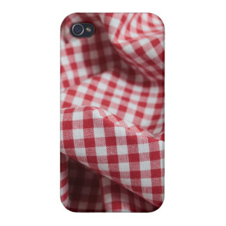 Red and White Gingham Checkered Cloth iPhone 4/4S Covers