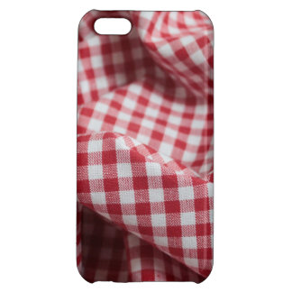 Red and White Gingham Checkered Cloth Case For iPhone 5C