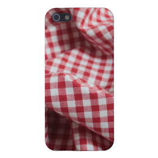 Red and White Gingham Checkered Cloth iPhone 5 Covers