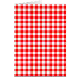 Red and White Gingham Checks Card