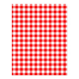 Red and White Gingham Checks Letterhead