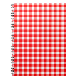 Red and White Gingham Checks Notebook