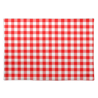 Red and White Gingham Checks Placemat