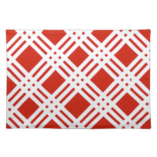 Red and White Gingham Cloth Placemat