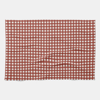 Red and White Gingham Hand Towel