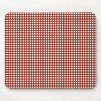 Red and White Gingham Mouse Pad