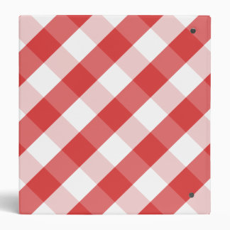 Red and white gingham pattern binder