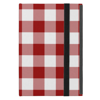 Red and White Gingham Pattern Cases For iPad Mini