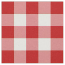 Red and White Gingham Pattern Fabric