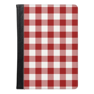 Red and White Gingham Pattern iPad Air Case