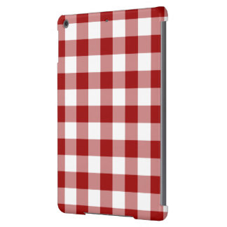 Red and White Gingham Pattern iPad Air Cases