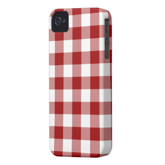 Red and White Gingham Pattern iPhone 4 Cover