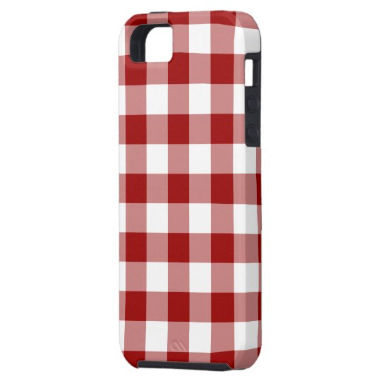 Red and White Gingham Pattern iPhone SE/5/5s Case
