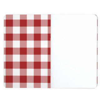 Red and White Gingham Pattern Journal