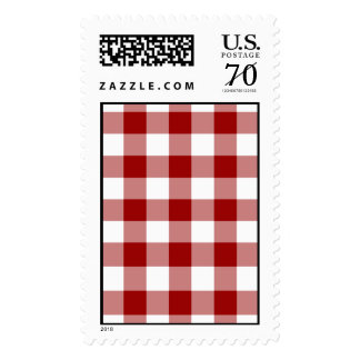 Red and White Gingham Pattern – Large Stamp