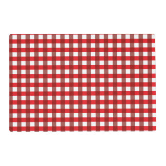 Red and White Gingham Pattern Placemat