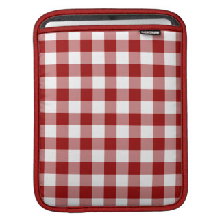 Red and White Gingham Pattern Sleeve For iPads